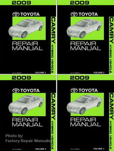 2009 toyota camry hybrid factory service manual 4 volume set rh factoryrepairmanuals com 2010 Toyota Camry Manual 2008 toyota camry hybrid repair manual