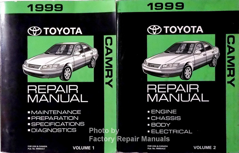 1999 toyota camry factory service manual set original shop repair rh factoryrepairmanuals com 1999 toyota camry repair manual 1999 toyota camry repair manual