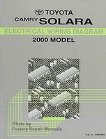 2000 Toyota Camry Solara Electrical Wiring Diagrams - Original Factory Manual