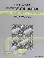 Toyta Camry Solara Electrical Wiring Diagram 2003 Model
