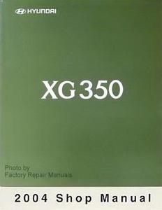 2004 hyundai xg350 factory service manual original shop repair rh factoryrepairmanuals com 2004 hyundai xg350l repair manual 2004 Hyundai XG350 Engine Diagram