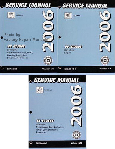 2006 buick lucerne factory shop service repair manual 3 volume set rh factoryrepairmanuals com 06 Buick Lucerne 2006 Buick Lucerne Reliability