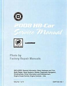 2008 buick lucerne factory shop service repair manual 4 volume set rh factoryrepairmanuals com Buick Verano 2015 Buick Lucerne