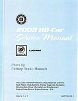 2008 Buick Lucerne Factory Shop Service Repair Manual 4 Volume Set