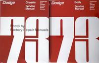 1973 Dodge Challenger Dart Charger Coronet Polara Monaco Service Manual Volume 1, 2