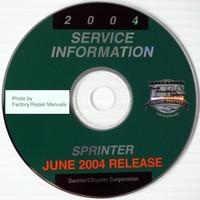 2004 Dodge Sprinter Service Information CD-ROM