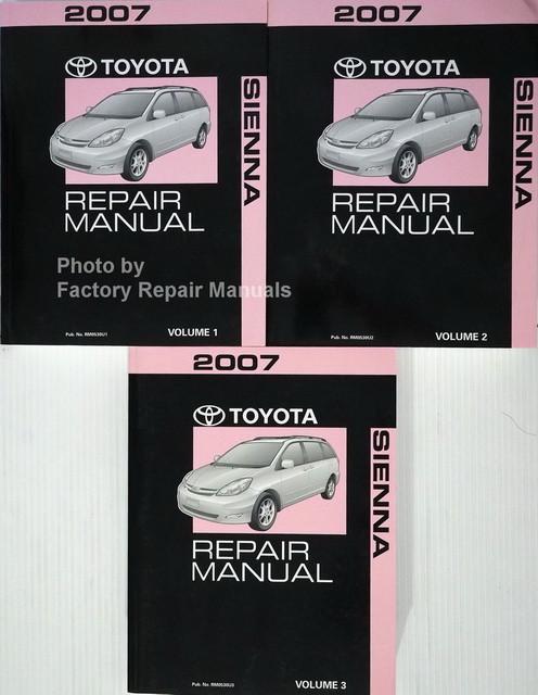 2007 toyota sienna factory service manual set original shop repair rh factoryrepairmanuals com toyota sienna manual 2015 toyota sienna manual transmission
