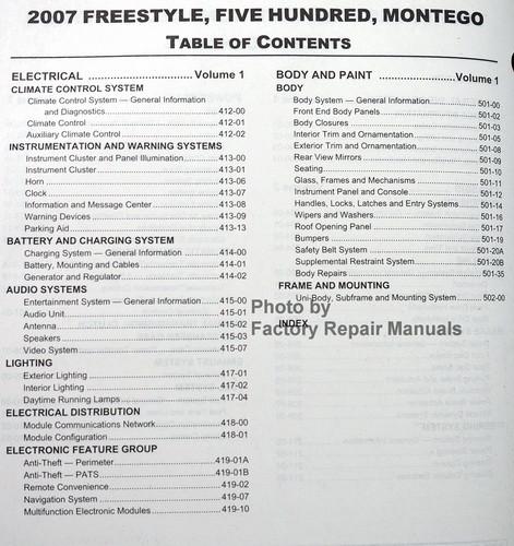 2005 mercury montego wiring diagrams service manual [2007 mercury montego repair manual for a ... 2007 mercury montego wiring diagrams free download