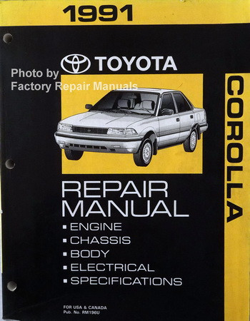 1991 toyota corolla factory service manual original shop repair rh factoryrepairmanuals com 1991 toyota corolla manual pdf 1991 toyota corolla manual transmission