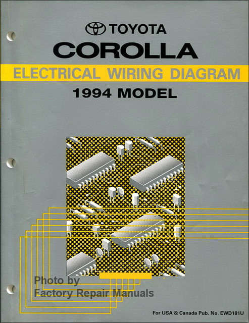 1994 toyota corolla electrical wiring diagrams original shop manual rh factoryrepairmanuals com electrical wiring diagram toyota corolla 2007 toyota corolla electrical wiring diagram pdf