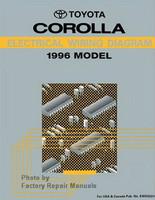 1996 Toyota Corolla Electrical Wiring Diagrams - Original Shop Manual