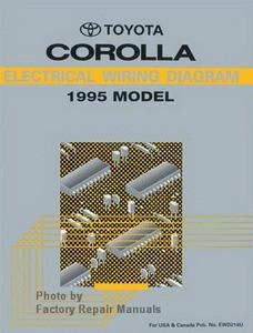 1995    Toyota       Corolla       Electrical    Wiring    Diagrams     Original Shop Manual     Factory    Repair Manuals