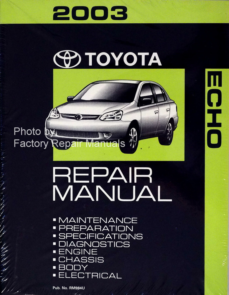 2003 Toyota Echo Factory Service Manual