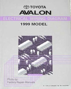 1999 toyota avalon electrical wiring diagrams original factory rh factoryrepairmanuals com 2001 avalon wiring diagram 2001 toyota avalon wiring diagram