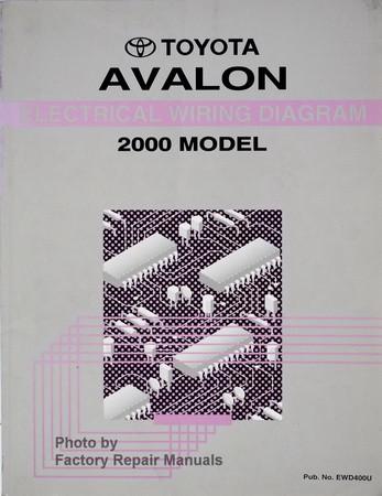 2000 toyota avalon electrical wiring diagrams original factory rh factoryrepairmanuals com 2008 Toyota Avalon 2000 toyota avalon service manual pdf
