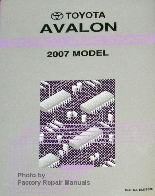 2007 Toyota Avalon Electrical Wiring Diagrams Original Factory Manual