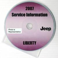 2007 Jeep Liberty Factory Service Manual CD-ROM Original Shop Repair