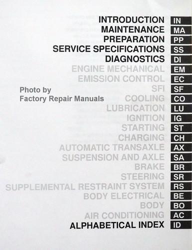 2000 toyota avalon factory service manual 2 volume set original shop rh factoryrepairmanuals com 2008 Toyota Avalon 2000 toyota avalon repair manual