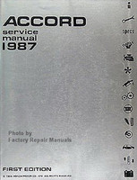 1987 Honda Accord Factory Service Manual – Original Shop Repair