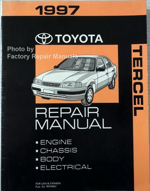 1997 toyota tercel factory service manual original shop repair rh factoryrepairmanuals com Toyota LFA Xerox Service Manual