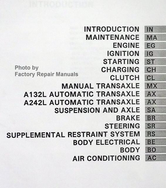 1997 toyota tercel repair manual