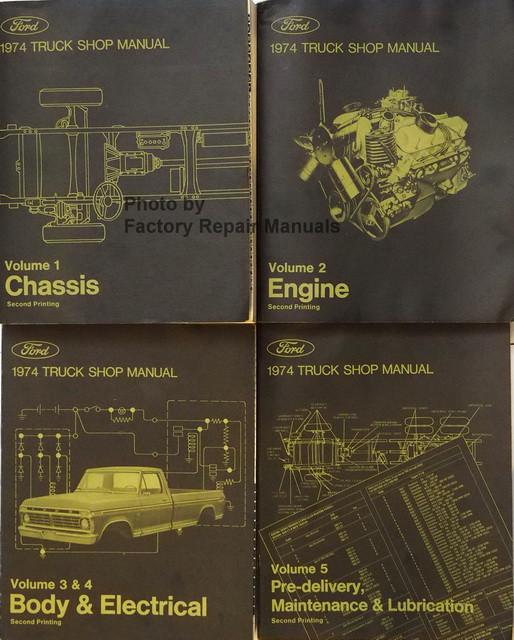 1974 ford truck f100 f250 e100 bronco bus factory shop service rh factoryrepairmanuals com 1979 F250 1970 F250
