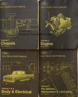 1974 Ford Truck Shop Manuals Volume 1, 2, 3, 4, 5