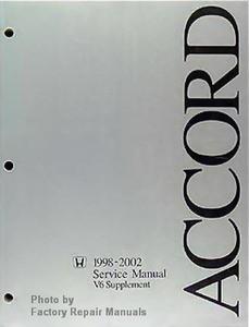 1998 2002 honda accord factory shop service manual v6 supplement rh factoryrepairmanuals com 2002 honda accord service manual pdf 2002 honda accord service manual free download