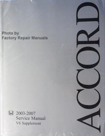 2003 2007 honda accord factory service manual v6 supplement original rh factoryrepairmanuals com 1990 Honda Accord 2010 Honda Accord