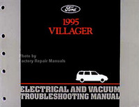 1995 Mercury Villager Electrical & Vacuum Troubleshooting Manual Original EVTM