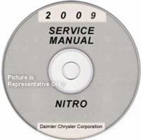 2009 Dodge Nitro Factory Service Manual CD-ROM - Original Shop Repair