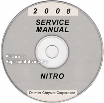 2008 dodge nitro factory service manual cd rom original shop rh factoryrepairmanuals com dodge nitro service manual pdf dodge nitro service manual pdf