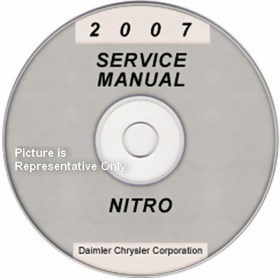 2007 dodge nitro factory service manual cd rom original shop repair rh factoryrepairmanuals com mercedes factory service manual cd Nissan Factory Service Manual