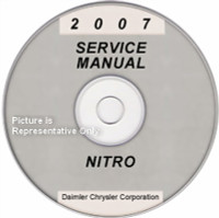 2007 Dodge Nitro Factory Service Manual CD-ROM Original Shop Repair