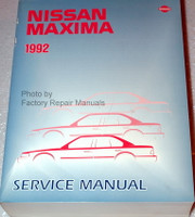1992 Nissan Maxima Factory Service Manual - Original Shop Repair