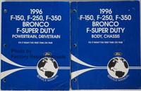 1996 F-150 F-250 F-350 Bronco F-Super Duty Service Manual Volume 1 and 2