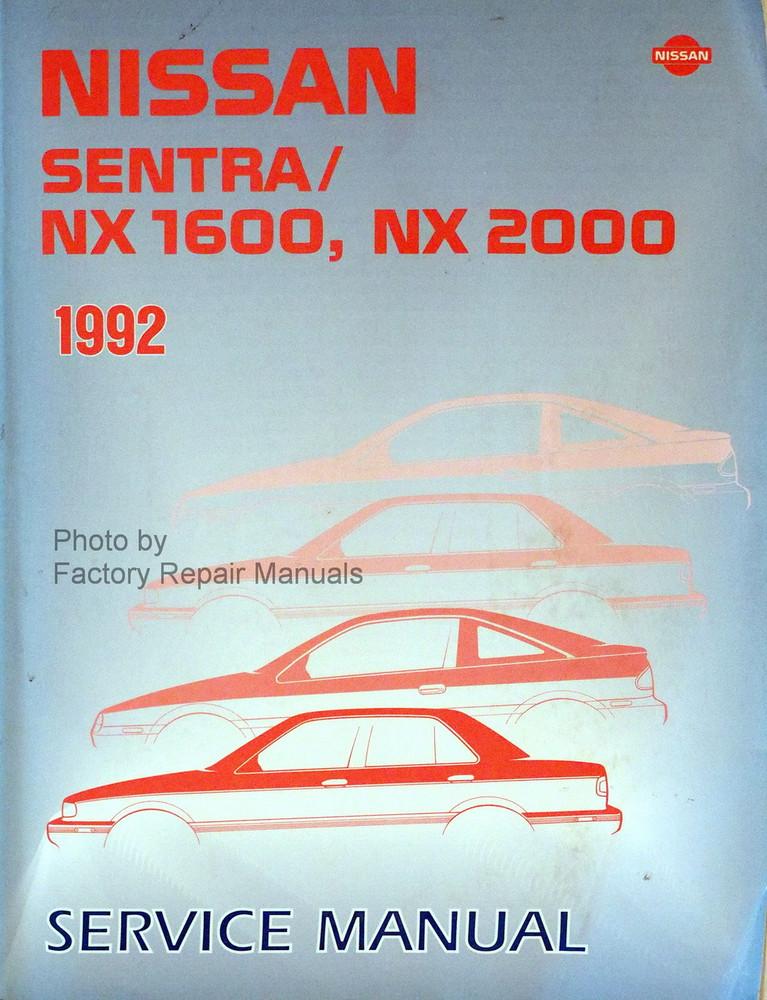 1992 nissan sentra and nx coupe factory shop service manual rh factoryrepairmanuals com 2000 Nissan Sentra Brasier Trevino 1999 Nissan Sentra