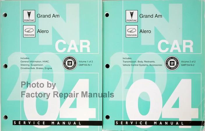 2004 pontiac grand am and oldsmobile alero factory service manual rh factoryrepairmanuals com oldsmobile alero repair manual free 2001 oldsmobile alero repair manual free