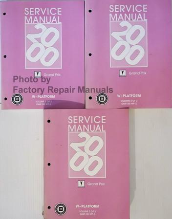 2000 Pontiac Grand Prix Factory Shop Service Manual 3 border=
