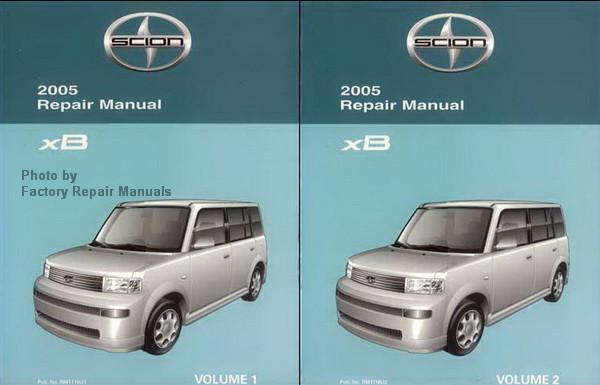 2005 scion xb factory service manual set original shop repair rh factoryrepairmanuals com 2005 scion xb repair manual free 2005 scion xb repair manual pdf