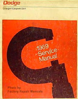 1969 Dodge Charger Coronet Dart Factory Shop Service Repair Manual