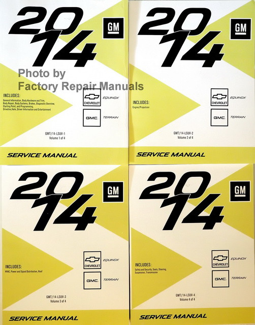 2014 chevy equinox gmc terrain factory service manual set original rh factoryrepairmanuals com 2010 gmc terrain service manual 2012 gmc terrain service manual
