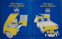 1974 Chrysler Plymouth Service Manual Chassis, Body