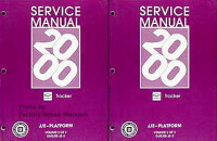 2000 Chevy Tracker Factory Service Manual 2 Volume Set Original Shop Repair