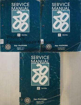 2000 cadillac deville factory service manual 3 volume set original rh factoryrepairmanuals com 2000 Cadillac DTS Black 2000 Cadillac DTS Interior