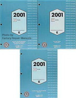 2001 Cadillac Seville Factory Service Manual 3 Volume Set Original Shop Repair