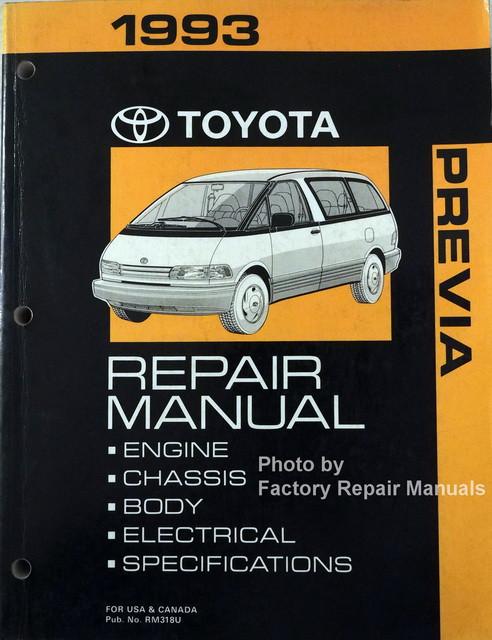 1993 toyota previa mini van factory shop repair manual original 1993 toyota  previa repair manual at florida ga previa