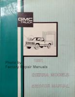 1991 GMC Sierra Factory Service Manual