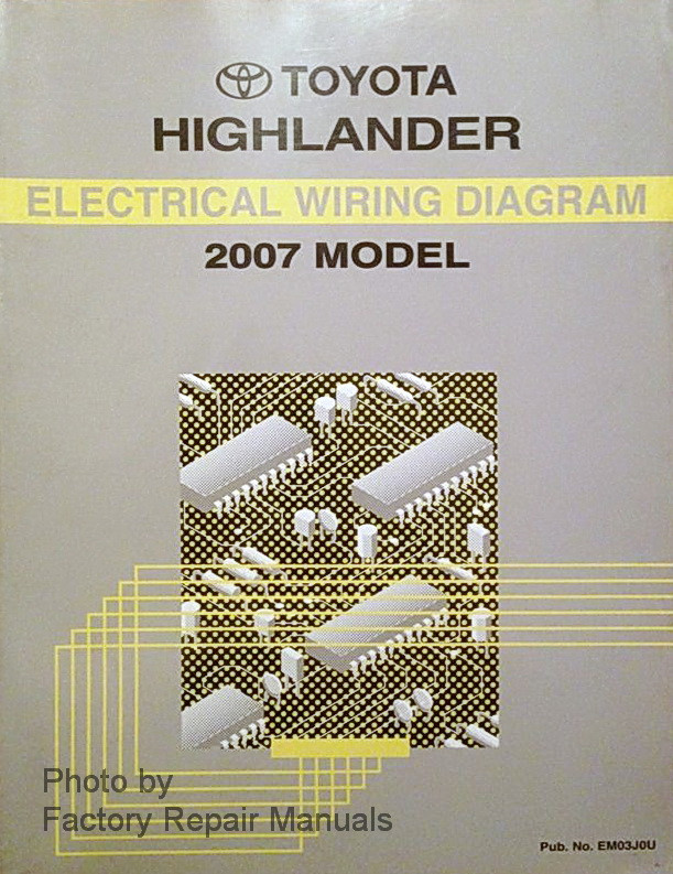2007 toyota highlander electrical wiring diagrams original factory rh factoryrepairmanuals com 2016 Toyota Highlander Owner Manual 2007 toyota highlander hybrid repair manual
