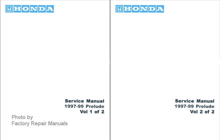 1997 1999 honda prelude factory service manual set reprint factory rh factoryrepairmanuals com Honda GX340 Service Manual 1999 honda prelude factory service manual